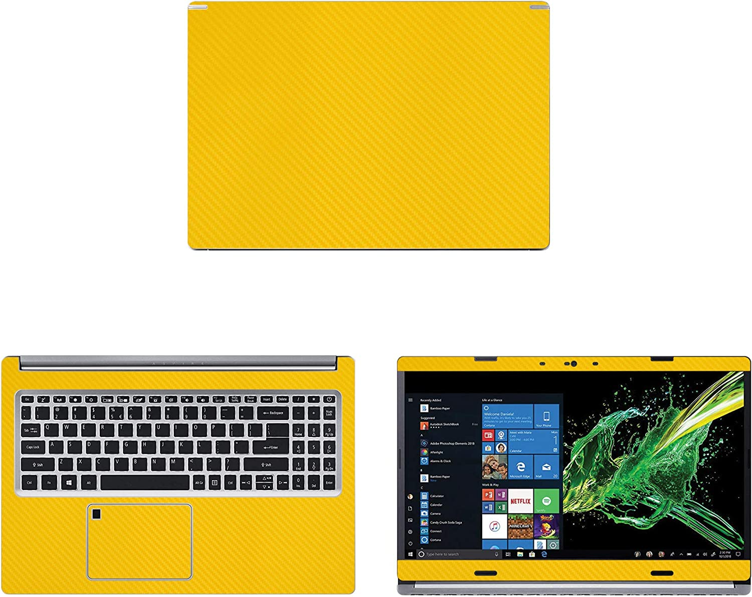 Decalrus - Protective Decal for Acer Aspire 5 A515-54-51DJ (15.6