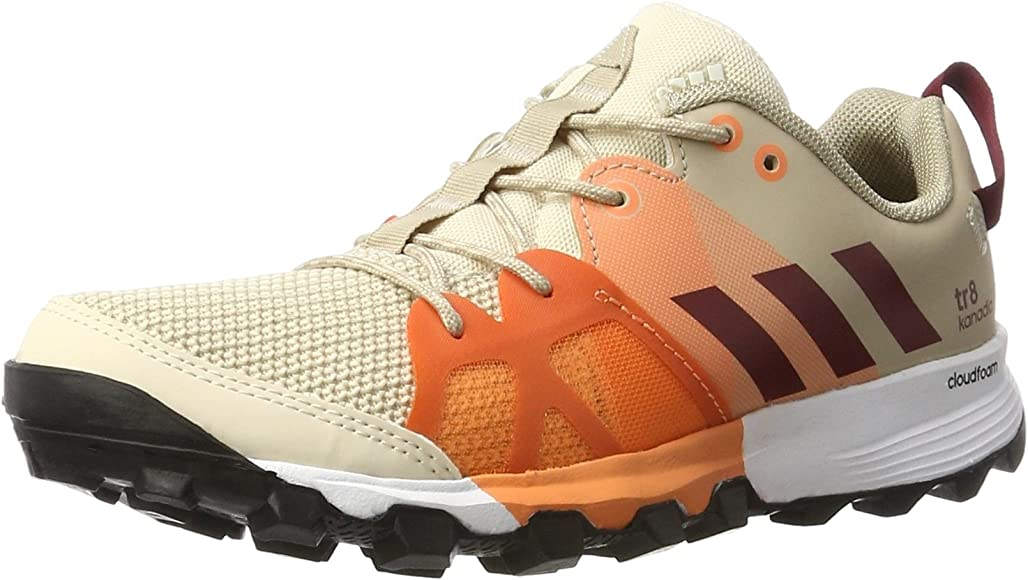 Adidas Kanadia 8 Tr W, Zapatillas de Running para Mujer, Beige (Linen/Collegiate Burgundy/Glow Orange), 36 2/3 EU: Amazon.es: Zapatos y complementos
