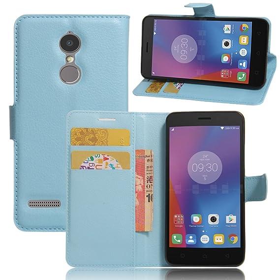uk availability e5aae 68d4c JARNING Lenovo K6/K6 Power Case Leather Wallet Flip Cover with Card Slots  Magnetic Closure Kickstand Slim Premium Phone Case for Lenovo K6/K6 ...
