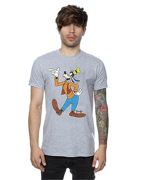 Disney Men's Classic Goofy T-Shirt XXX-Large Heather Grey