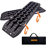 ORCISH Recovery Traction Boards Tracks Tire Ladder for Sand Snow Mud 4WD(Set of 2), Black