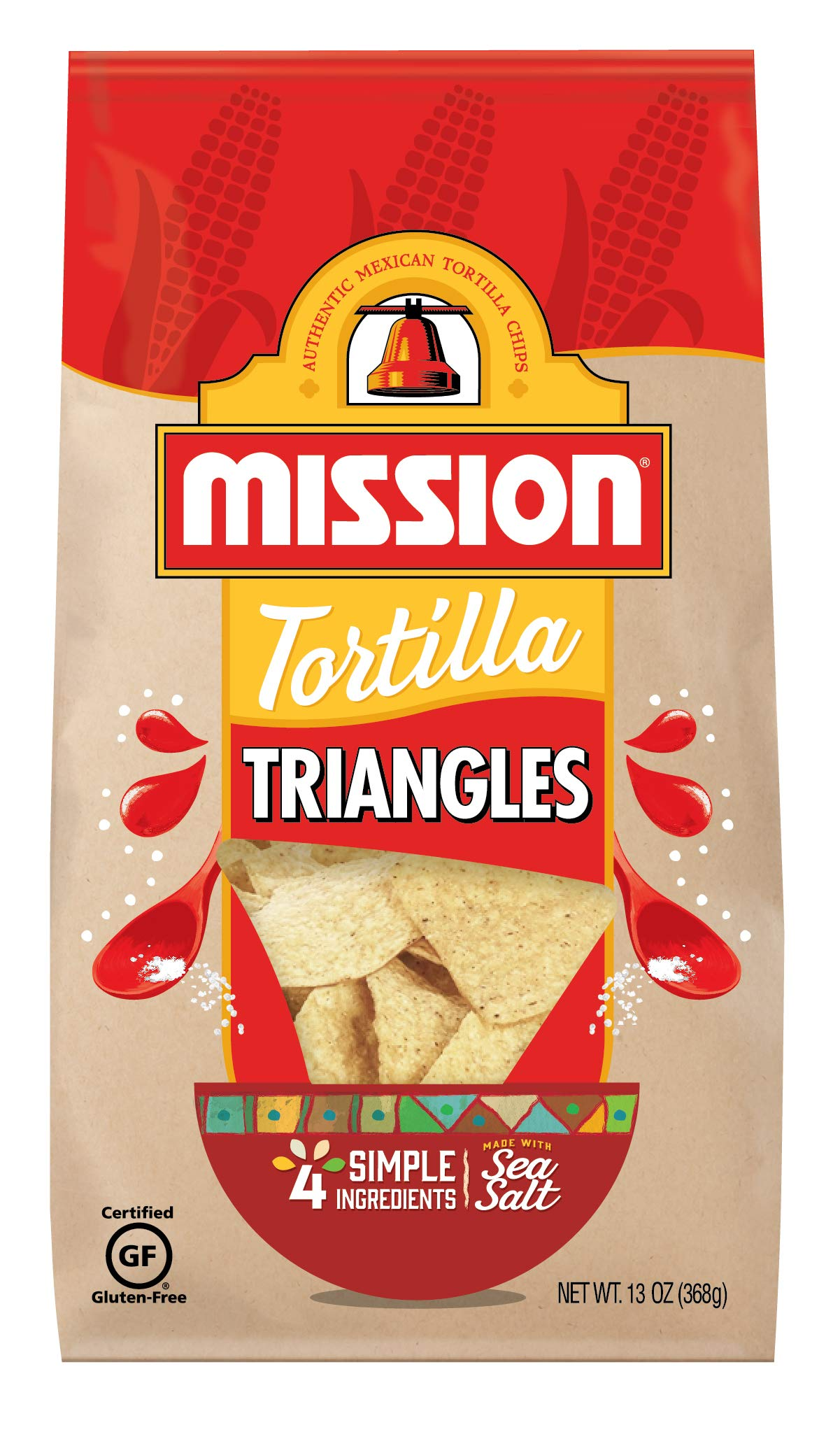 Mission Triangles Tortilla Chips   Gluten Free   Restaurant Style Corn Tortilla Chips   13 oz by MISSION