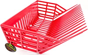 Southwestern Equine Universal Manure Fork Head Catch-All Deep Basket (Red)
