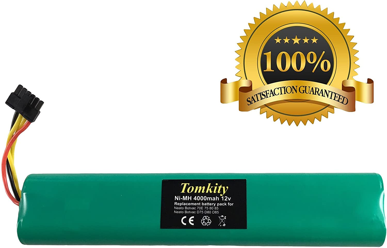 Tomkity 4000mAh 12V Batterie pour Aspirateur Neato BotVac