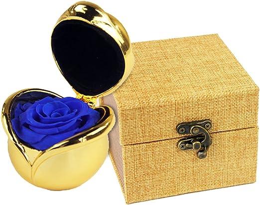 FunPa Caja del Anillo Joyero 3D Pop Up Rose Ring Box Rose Flower ...
