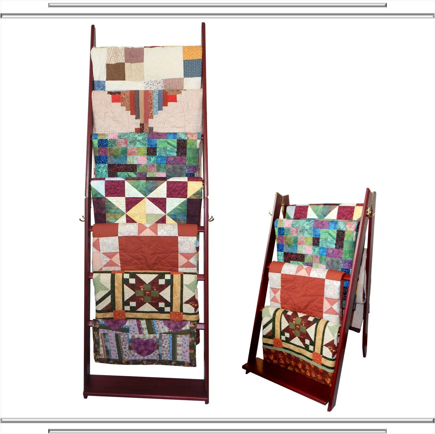 The LadderRack It's 2 Quilt Racks in 1! (7 Rung/30'' Model/Cabernet) by Built by Briick Quilting