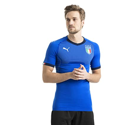 27211b80678 Amazon.com : PUMA 2018-2019 Italy Evoknit Authentic Home Football Soccer T-Shirt  Jersey (with Packaging) : Sports & Outdoors