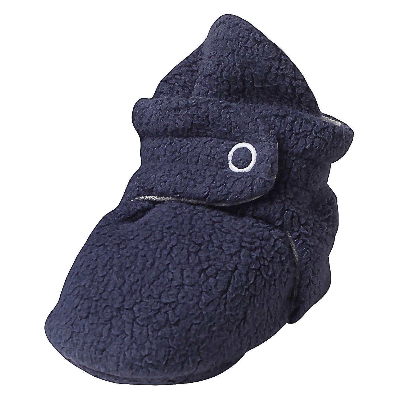 Zutano Booties Unisex Baby Booties For Boys Girls Fleece Winter Slipper Socks Navy Blue Heather Grey