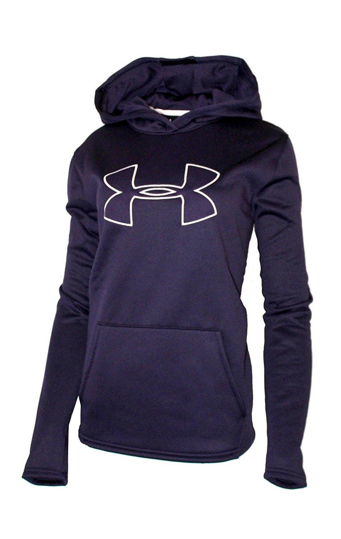 Under Armour Womens UA Storm Big Logo Hoodie Athletic Shirt (Medium, Purple)