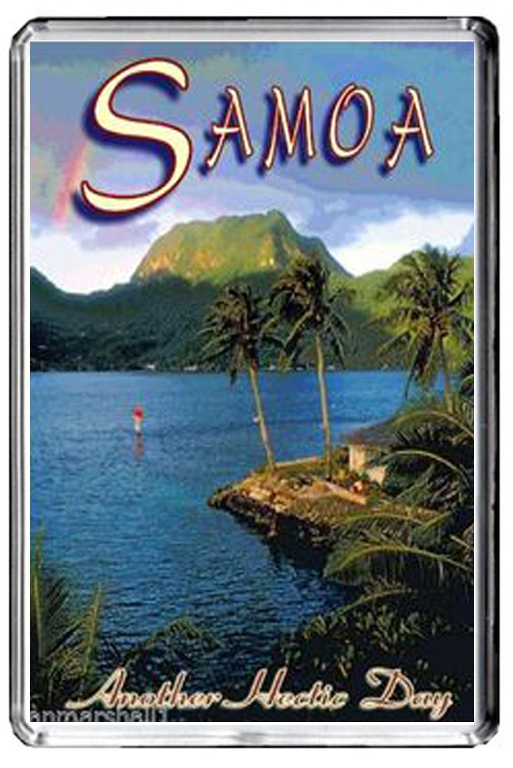 CFL F107 SAMOA FRIDGE MAGNET SAMOA VINTAGE TRAVEL PHOTO MAGNETICA CALAMITA FRIGO
