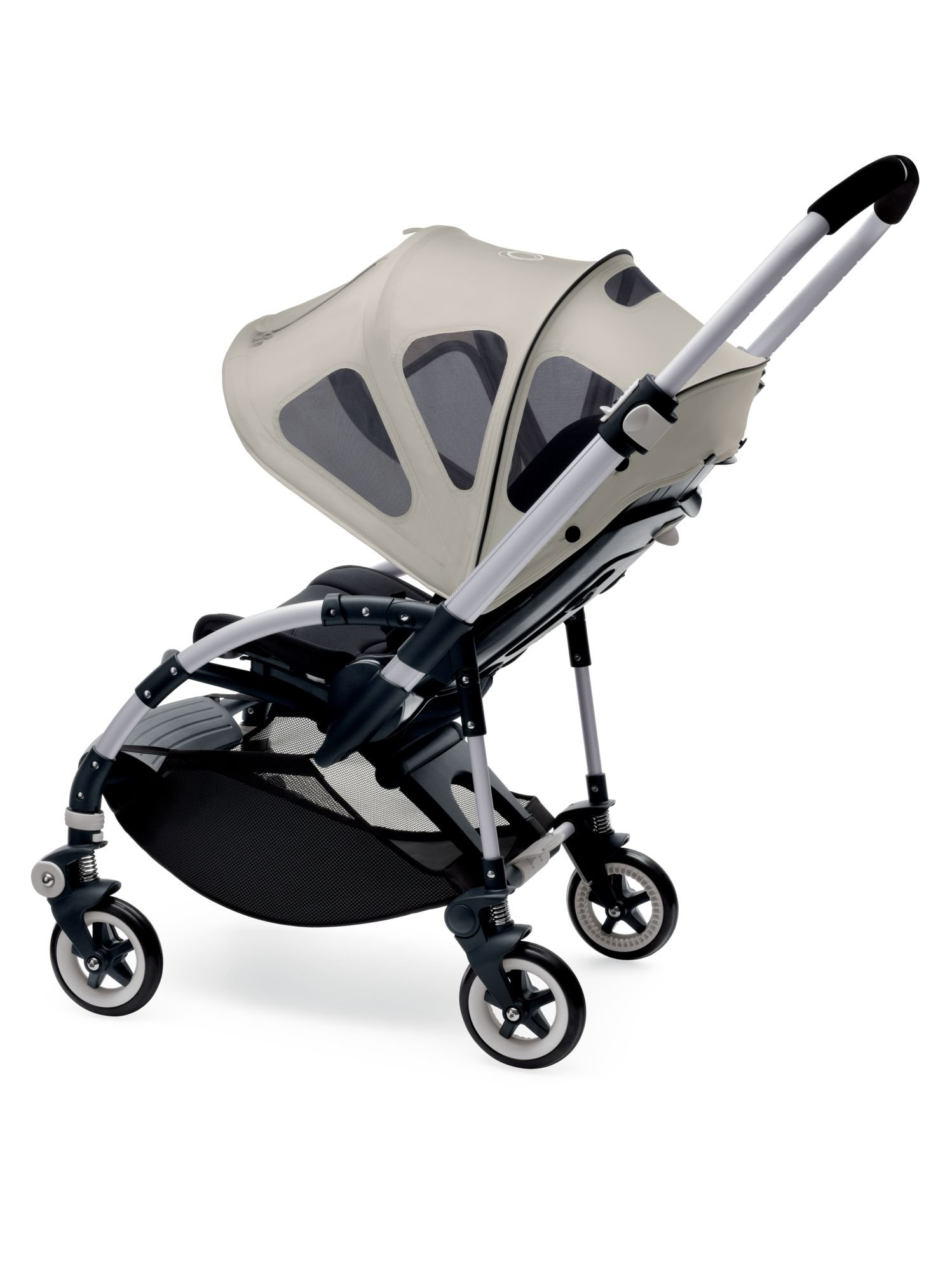 Bugaboo Bee Breezy Sun Canopy, Arctic Grey - Extendable Sun Canopy with UPF Sun Protection and Mesh Ventilation Panels by Bugaboo (Image #4)