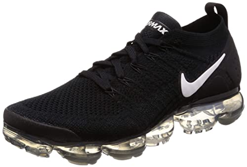 official photos 5de68 5a54e Nike Men s Air Vapormax Flyknit 2 Running Shoes (11.5, Black White Grey