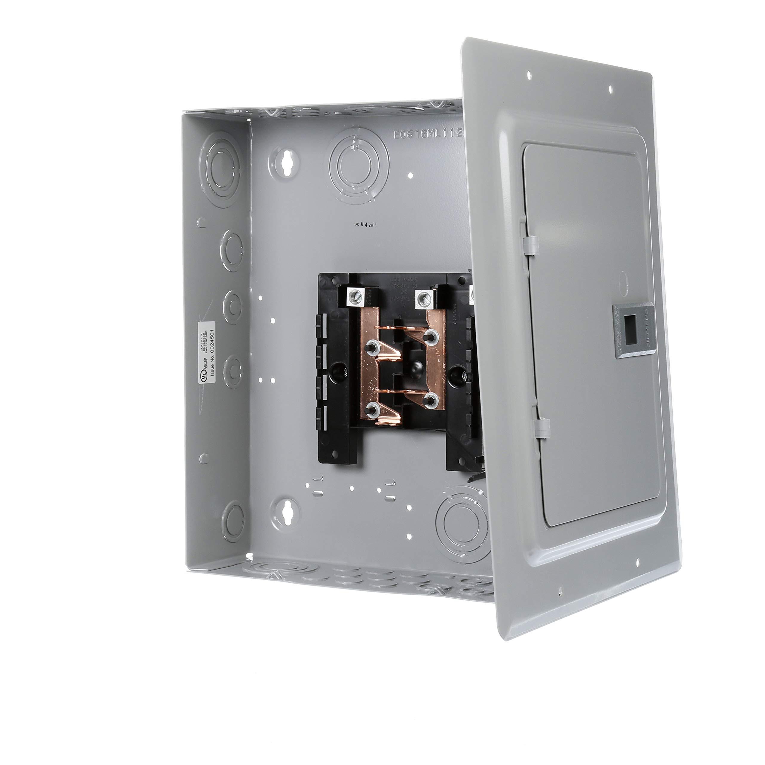 Siemens E0816ML1125FCU 8 Space, 16 Circuit, 125-Amp, Main Lug, Flush Mount, Indoor Load Center with Copper Bus Bars