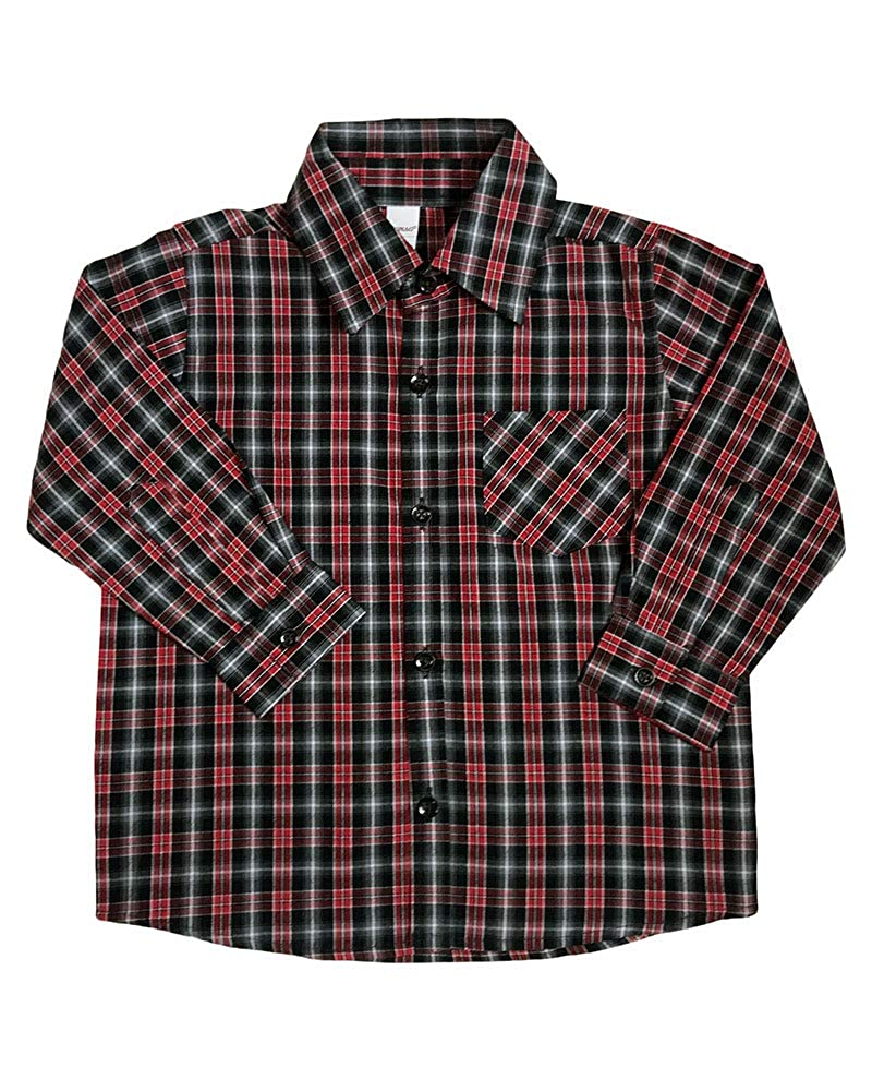 Monag Toddler Long Sleeve Plaid Button Down Shirt