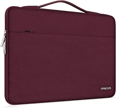 Polyester Multifunctional Carrying Case Protective Bag Cover Notebook Computer MOSISO Laptop Sleeve Briefcase Handbag Compatible 15-15.6 Inch MacBook Pro Deep Teal