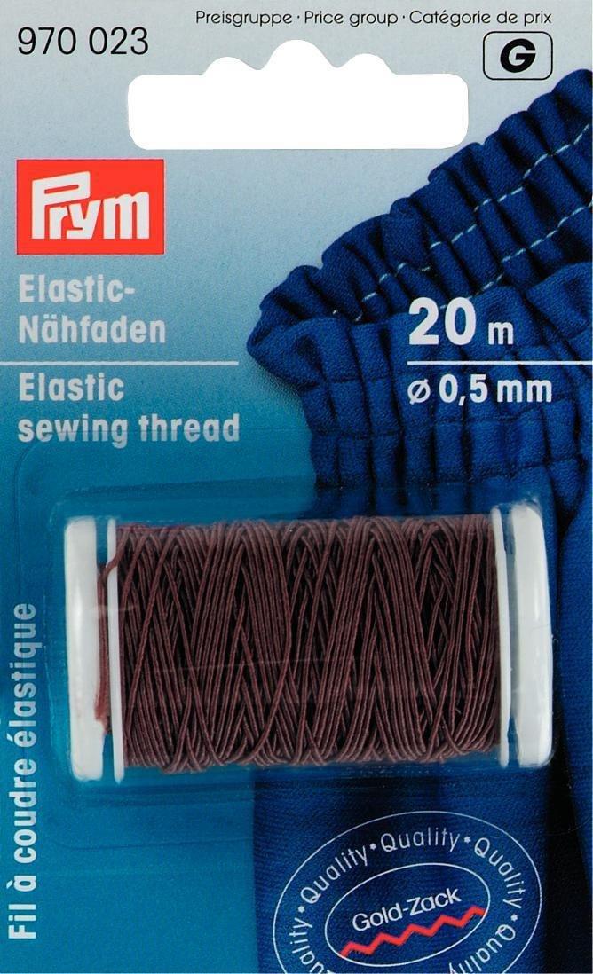 Prym-elastico 0,5 mm x 20 m, filo da cucito, colore: marrone PRYM_970023-1