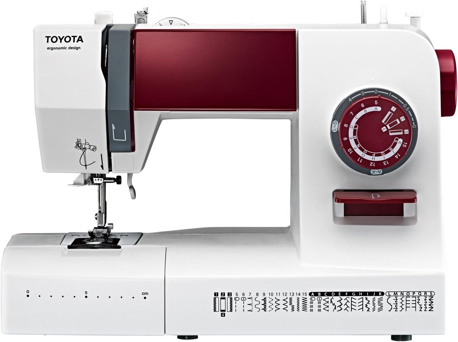 TOYOTA ergo34d Brazo Libre Máquina de Coser con 34 programas: Amazon.es: Hogar