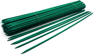 "12"" Green Wood Plant Stake, Floral Picks, Wooden Sign Posting Garden Sticks (100 Pcs) by Royal Imports"