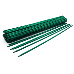 "Royal Imports 24"" Green Wood Plant Stake, Floral Picks, Wooden Sign Posting Garden Sticks (100 Pcs)"