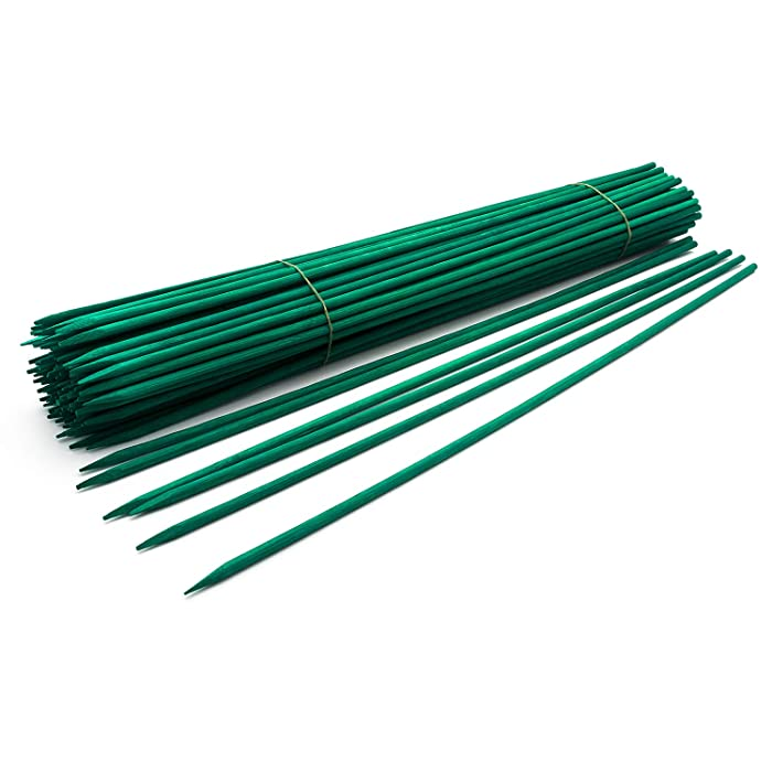 "Royal Imports 15"" Green Wood Plant Stake, Floral Picks, Wooden Sign Posting Garden Sticks (100 Pcs)"