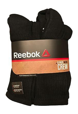 09f5fda8 Reebok 6 Pack Mens Performance Training Crew Socks