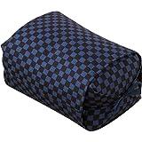 エムール そばがら 高さが調整できる ごろ寝枕 25×18×8~12cm 日本製 市松 あお