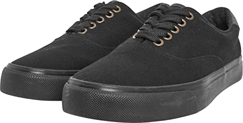 Urban Classics Low with Laces, Sneaker Unisex-Adulto, Multicolore (Blk/Wht 00050), 38 EU