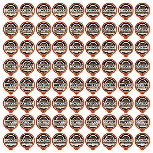 Fresh Roasted Coffee LLC, Dark Roast Variety Pack Coffee Pods, Capsules Compatible with 1.0 & 2.0 Single-Serve Brewers, 72 Count