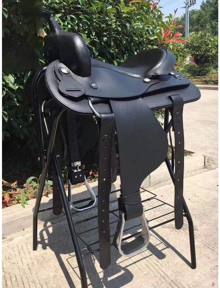 Tuuertge Horse Saddle Saddle Horse Saddle Western Endurance Saddle Full Set of Accessories Western Saddle (Color : Black, Size : One Size)
