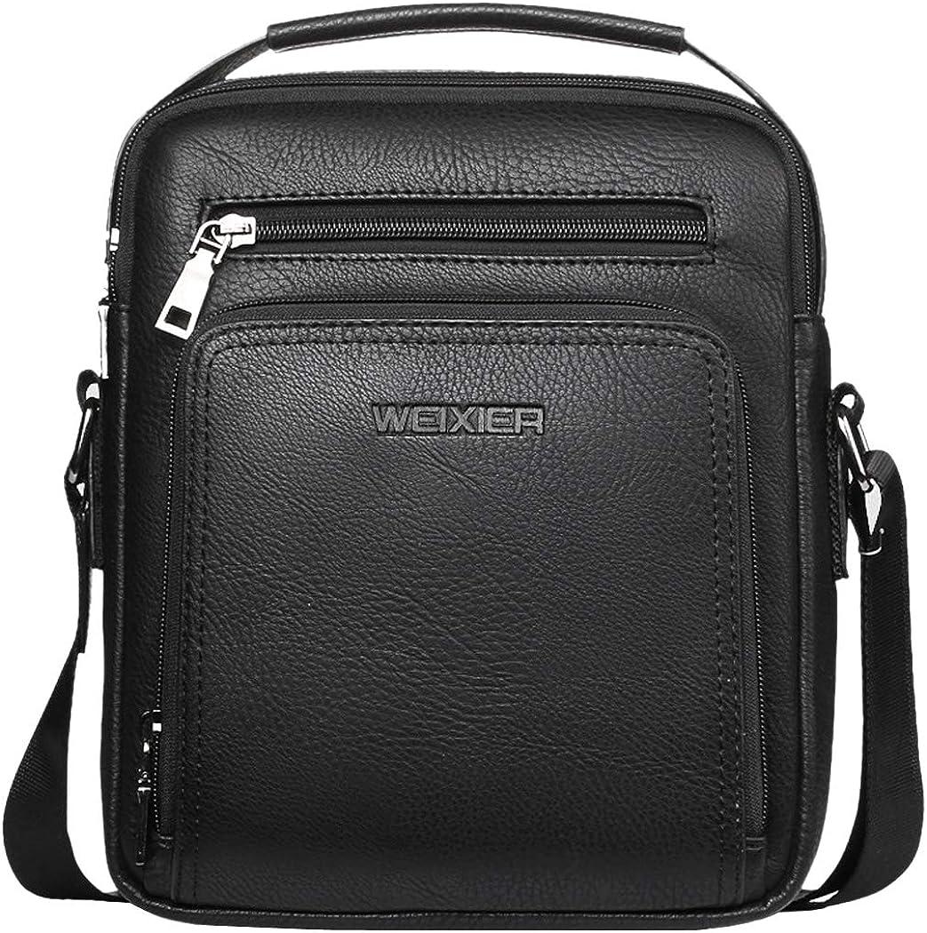 "Bageek Crossbody Bag for Men PU Leather Satchel Bags for Men Shoulder Bag Small Messager Bag for men Crossbody Purse for 9"" iPad"