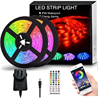 Findyouled 12M LED Strip Lights, SMD 5050 Lights Strip Music Sync, App Control with Remote, LED Rope Light for Bedroom…