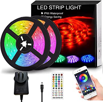 12M LED Strip Lights, SMD 5050 Lights Strip Music Sync, App Control with Remote, LED Rope Light for Bedroom, Home and Kitchen (SAA Certified Power Supply)