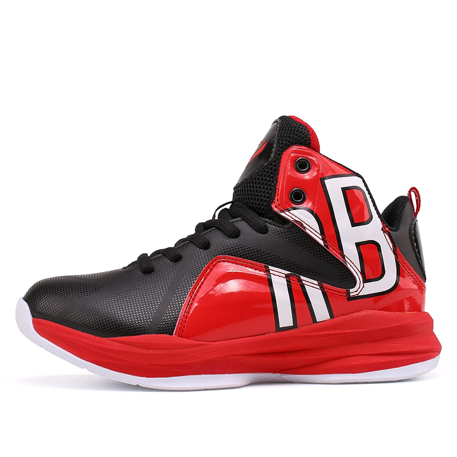 WETIKE Kids Basketball Shoes High-Top Sneakers Outdoor Trainers Durable Sport Shoes Little Kid//Big Kid