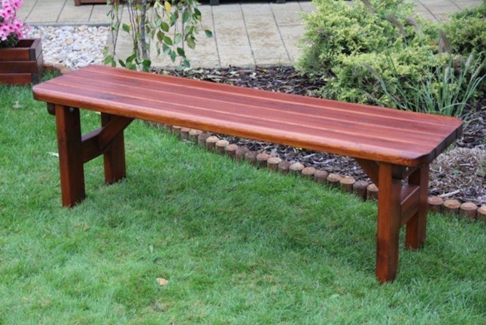 Massivholz Gartenbank Rovna 2 , Kiefer , unbehandelt , B 150 cm , Holzstärke : 42 mm !