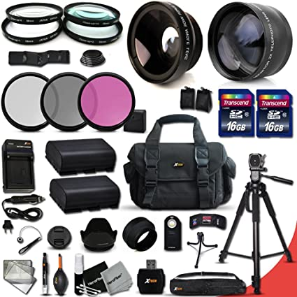 Ultimate 37 Piece Accessory Kit for Canon EOS 60D, EOS 70D, EOS 7D Mark II,  EOS 6D & EOS 5D Mark III DSLR Cameras