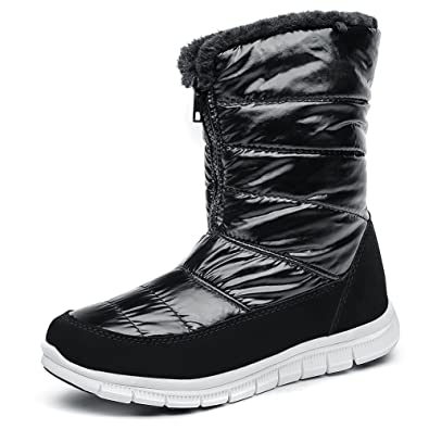 Women's Cold Weather Waterproof Snow Boots for Women Lightweight Insulation Winter Shoes Fur Lining