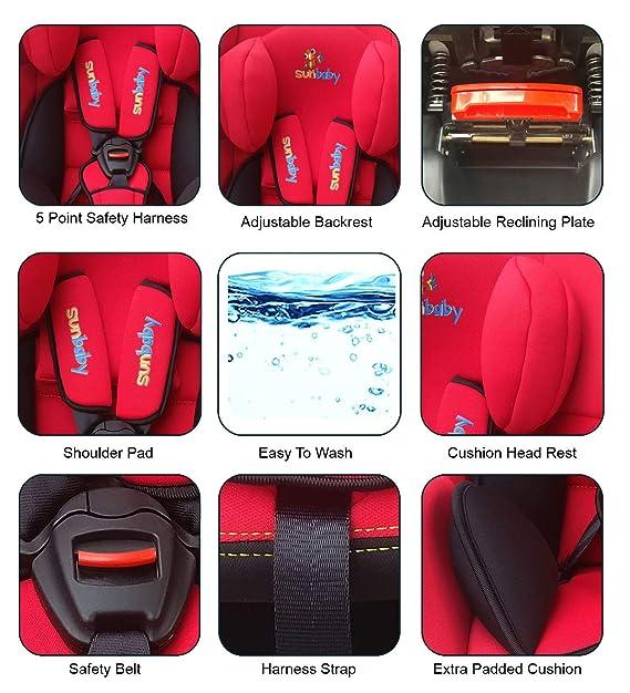 Sunbaby Amour Carseat Rearward-Forward Facing Car Seat  (Red)