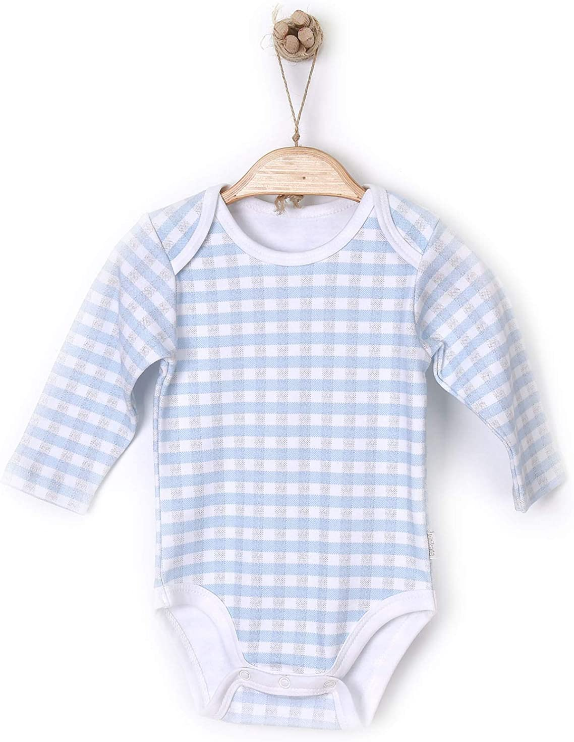 White /& Pink//Blue Perfect for Season Changes. Baby Boys /& Girls Long Sleeved Smooth Sleepsuits Clothes Baby Vests 0-24 Months Newborn Bodysuits