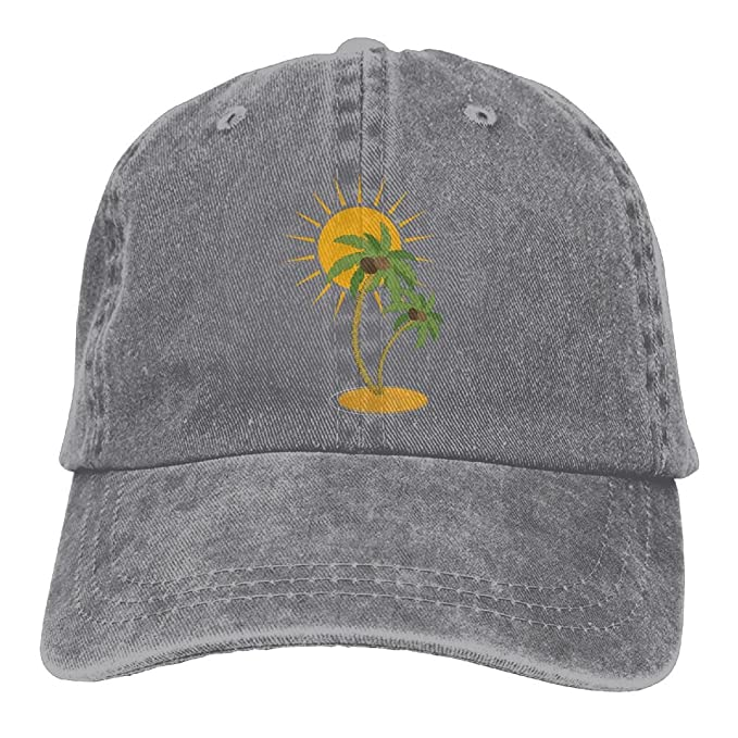 32b049f25b3 Arsmt Sun Coconut Tree Denim Hat Adjustable Women s Plain Baseball Caps