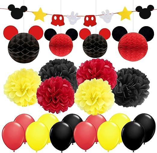 Mickey Mouse Decoraciones de fiesta Amarillo Negro Rojo Mickey ...