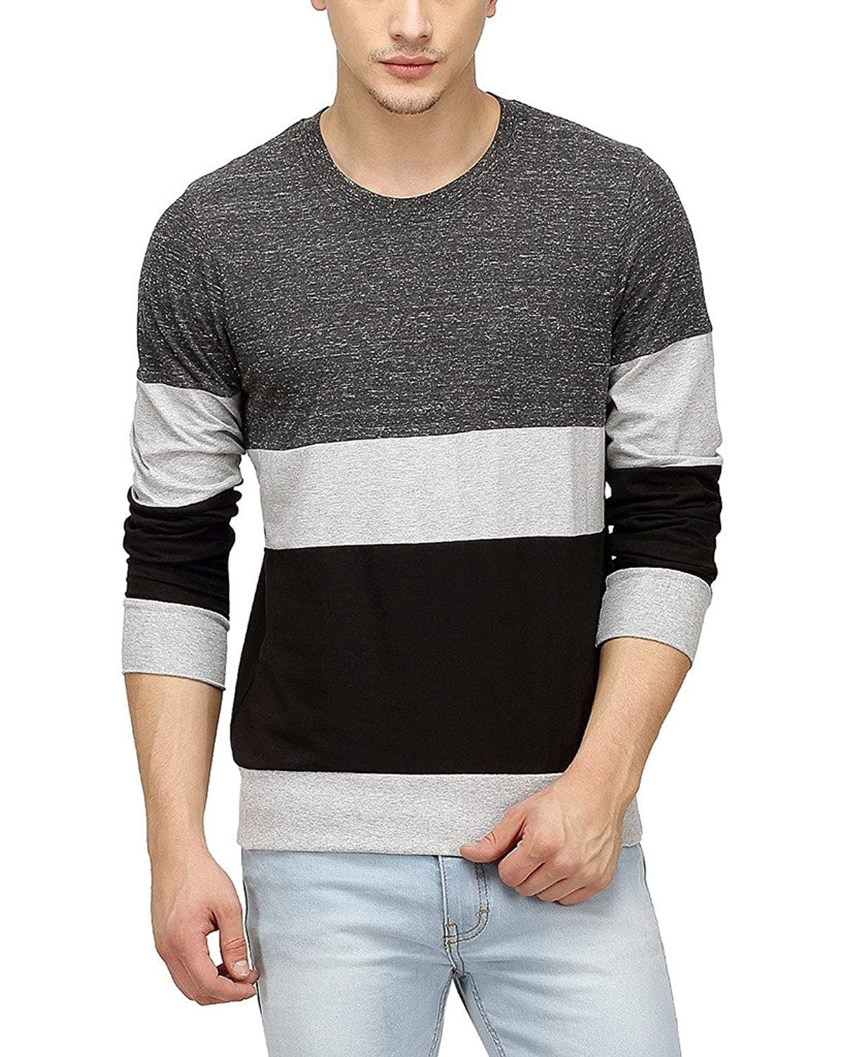 Campus Sutra Men Round Neck Full Sleeve T-Shirt: Amazon.in ...