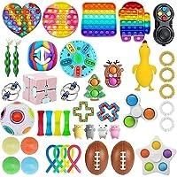 ICRPSTU Conjunto de brinquedos sensoriais, 43 peças, kit de ferramentas para alívio de estresse e ansiedade para…