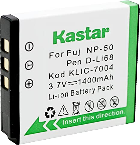 Compatible with Fujifilm NP-50 Digital Camera Batteries and Chargers Replacement for Fujifilm F850EXR Battery and Charger 1100mAh 3.7V Lithium-Ion