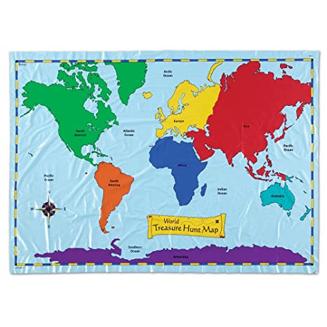 Amazon learning resources world treasure hunt map toys games learning resources world treasure hunt map gumiabroncs Image collections