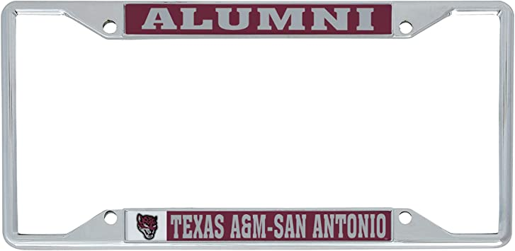 Mascot Desert Cactus University of Texas at San Antonio NCAA Metal License Plate Frame for Front or Back of Car Officially Licensed
