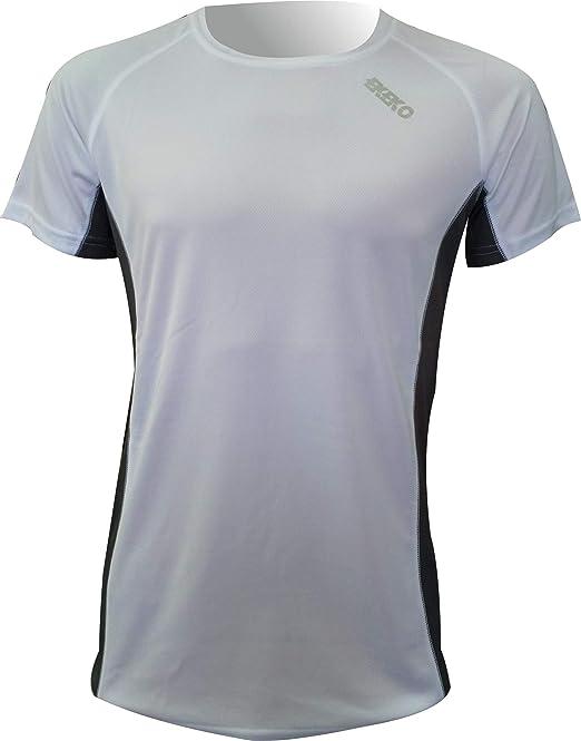 Camiseta Hombre Fabricada en Poliester microperforado Camiseta Deportiva Manga Corta EKEKO Marathon Fitness y Deportes en General. Running