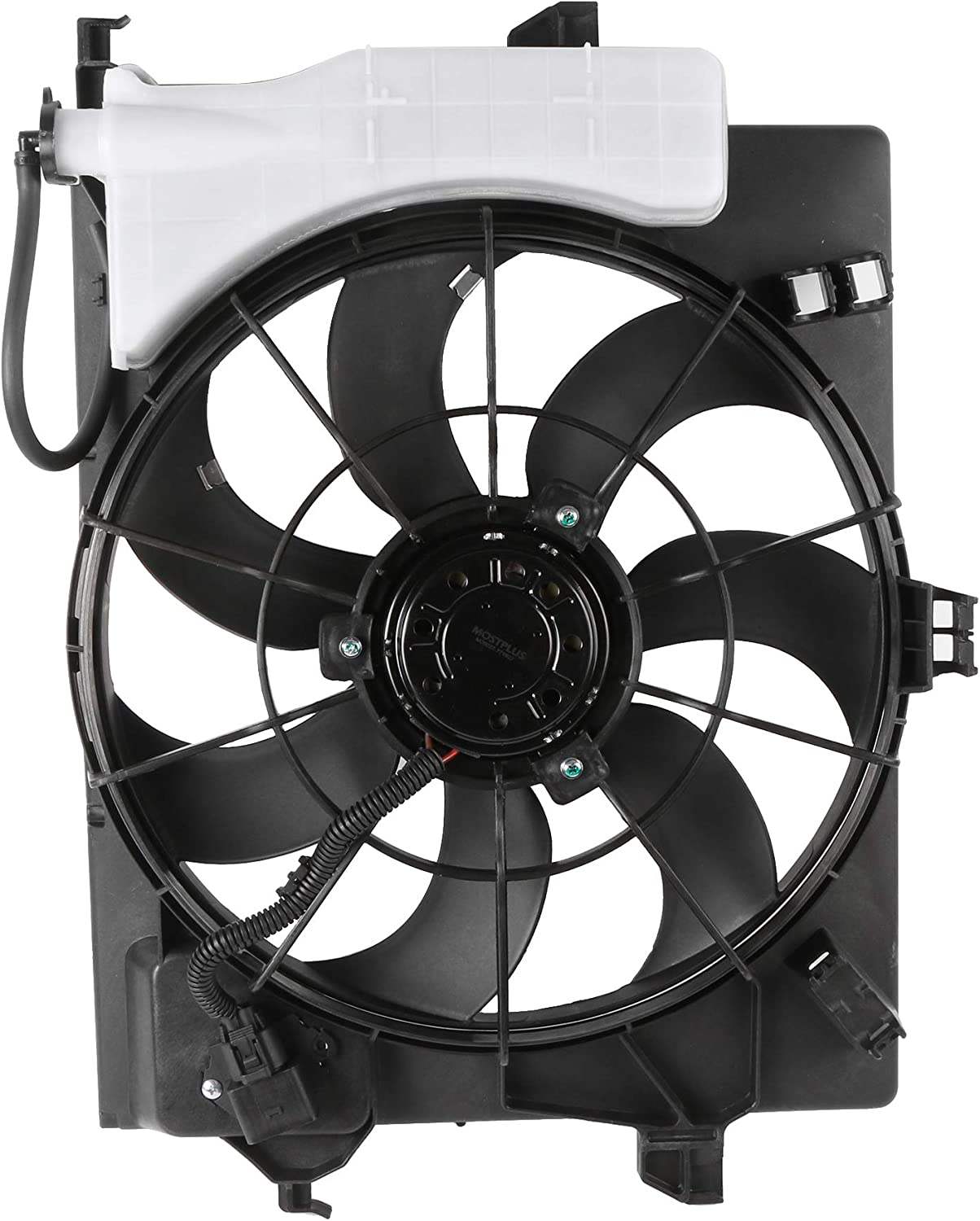 MOSTPLUS 1PC Black Radiator Cooling Fan Assembly 253801R050 622590 Compatible for Hyundai 2012-2013 1.6L