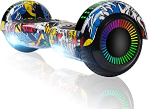 """FLYING-ANT Hoverboard 6.5"""" Two-Wheel Self Balancing Hoverboard with LED Light Flash Lights Wheels for Kids Adult"""