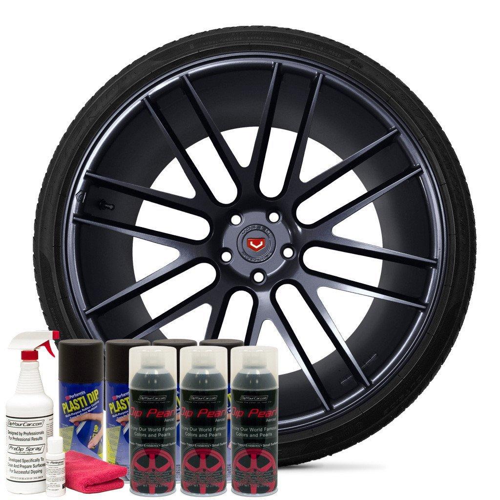 DipYourCar Dip Pearl Aerosol Wheel Kit - Obsidian Black