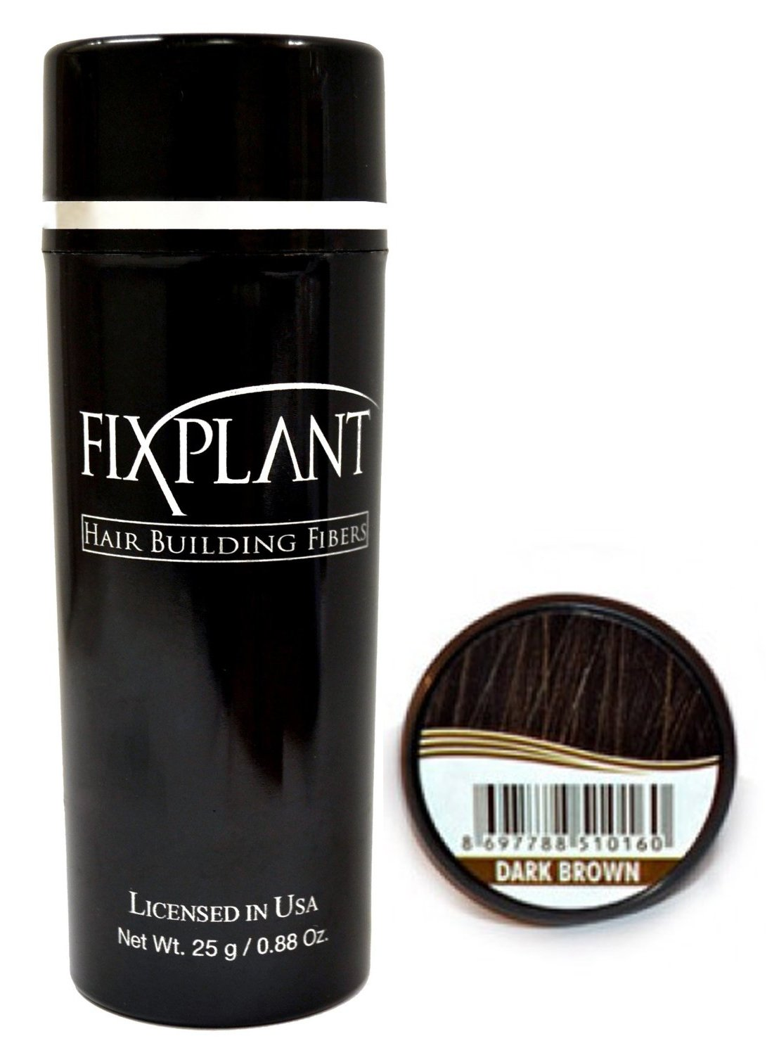 Fixplant Keratin Hair Building Fibers - Color Dark Brown; 25 Grams (Net Wt .88oz) by Fixplant: Amazon.es: Salud y cuidado personal